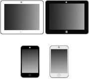 Hi-tech devices. Set of tablets and mobile phones Royalty Free Stock Images