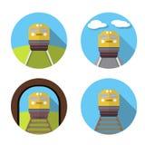 Set taborowa ikona w mieszkaniu Obraz Stock