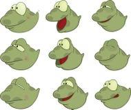 Set of Tadpoles Cartoons. Set of little green nice tadpoles Stock Image