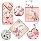 Set of tags. Set of different discount tags Royalty Free Stock Photos