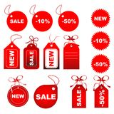 Set of tags Royalty Free Stock Images