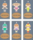 Set of tags with children Royalty Free Stock Image