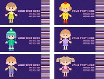 Set of tags with children Royalty Free Stock Photos