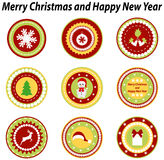 Set of tags for Christmas design Royalty Free Stock Photos
