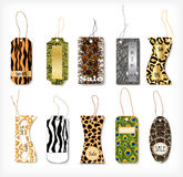 Set of tags with a different structure  animals Stock Photo