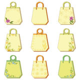 Set tags with floral pattern Royalty Free Stock Image