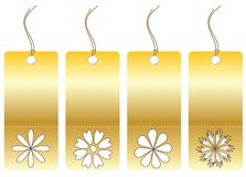 Set of tags with floral symbols Royalty Free Stock Photography