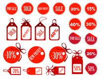 Set of tags fully editable Royalty Free Stock Photos