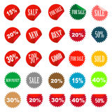 Set of tags fully editable. Vector illustration Royalty Free Stock Photography