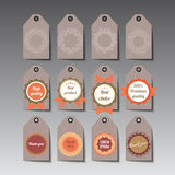 Set of tags. Royalty Free Stock Image