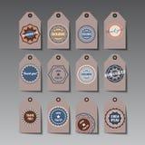 Set of tags. Stock Photos