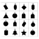 Set of tags icons. Isolated on white stock illustration