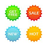 Set of tags for internet shoping Royalty Free Stock Image