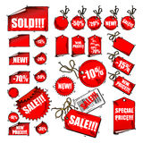 Set of tags Stock Image