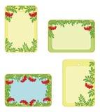 Set tags with rowanberry Stock Photos