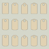 Set of tags. Royalty Free Stock Images