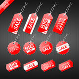 Set of tags for sale. Eps10 Stock Photos