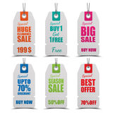 Set of tags for sale. Vector Stock Image
