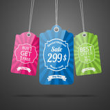 Set of tags for sale. Stock Images