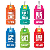 Set of tags for sale. Stock Photos