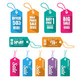 Set of tags for sale. Stock Photography
