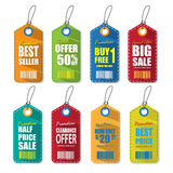 Set of tags for sale. Royalty Free Stock Photos