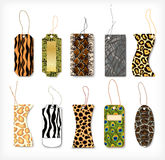 Set of tags with a structure  animals. Vector Stock Photo