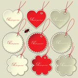 Set of tags to the festive Valentine's Day.   Royalty Free Stock Photos