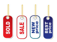 Set of tags. On a white background Royalty Free Stock Image