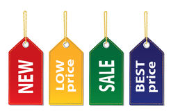 Set of tags. On a white background Stock Photos