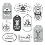 Set of tailor emblem, signage. Set of vintage tailor emblem and signage Stock Photo