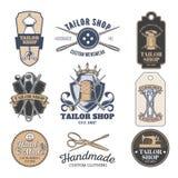 Set of tailor emblem, signage. Set of vintage tailor emblem and signage Stock Photography
