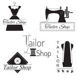 Set of tailor labels, badges and emblems Royalty Free Stock Image