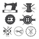 Set of tailor labels. Royalty Free Stock Images