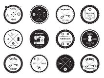Set of tailor logos, labels, emblems and designed elements. Stock Photo