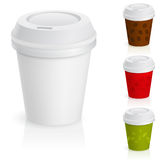 Set of takeaway coffee cups. Stock Photography