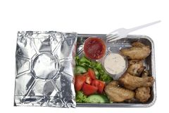 Set of takeaway food Stock Photos
