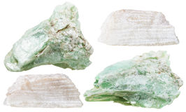 Set of talc mineral stones isolated Royalty Free Stock Photos
