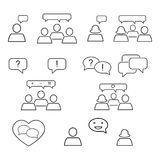 Set of talking outline of chat icons royalty free illustration