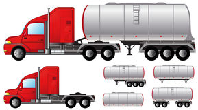 Set tank truck and fuel tanks Stock Photo