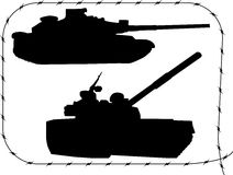 Set tanks silhouettes - 1 Stock Photo