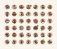 Set of tanuki character Royalty Free Stock Photos