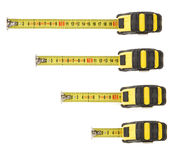 Set of tape measure isolated on white Royalty Free Stock Photos