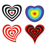 Target in heart shape Royalty Free Stock Image
