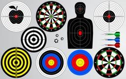 Set of target, shooting range. vector illustration