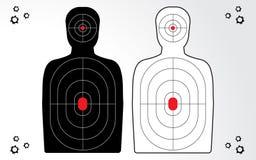 Set of target, shooting range. royalty free illustration