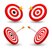 Set of target, symbol of winning Stock Images