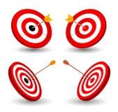 Set of target, symbol of winning Stock Images