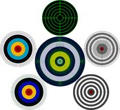 set of targets Stock Image