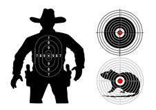 Set of targets human, mouse, classic Stock Image